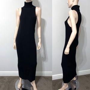 Shape FX Sleeveless Black Long Knit Dress L
